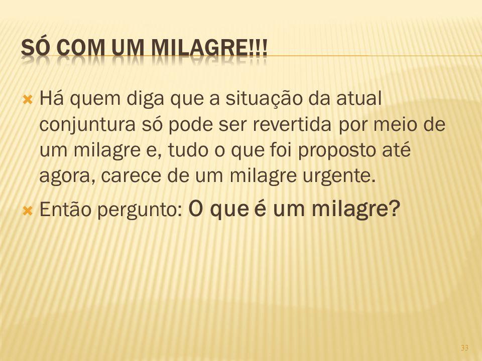 SÓ COM UM MILAGRE!!!
