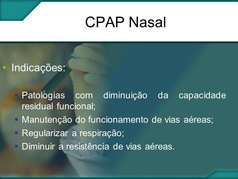 CPAP Nasal Indicações: