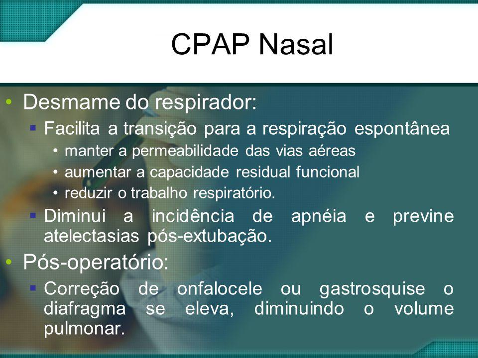CPAP Nasal Desmame do respirador: Pós-operatório: