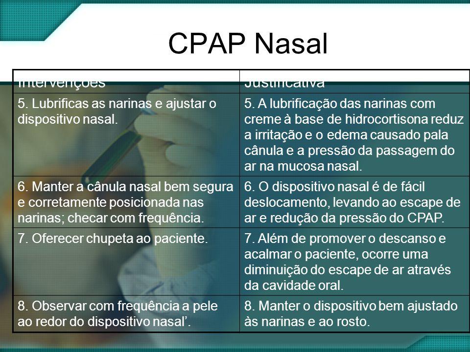 CPAP Nasal Intervenções Justificativa