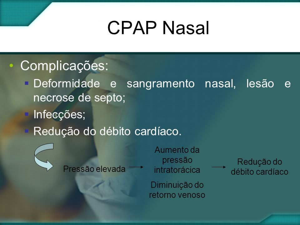CPAP Nasal Complicações: