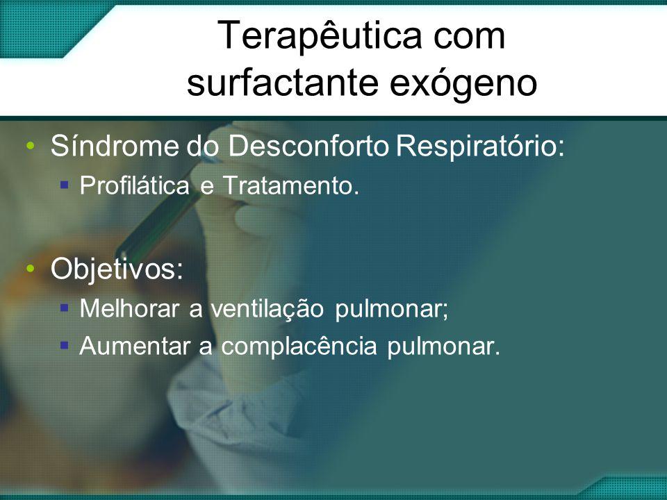 Terapêutica com surfactante exógeno