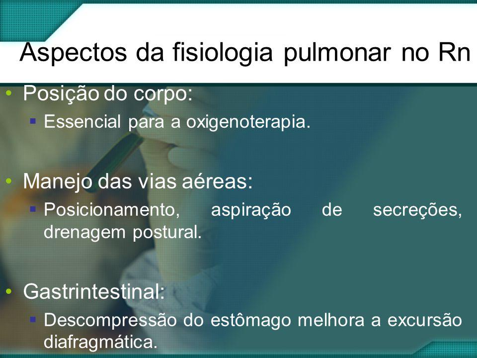Aspectos da fisiologia pulmonar no Rn