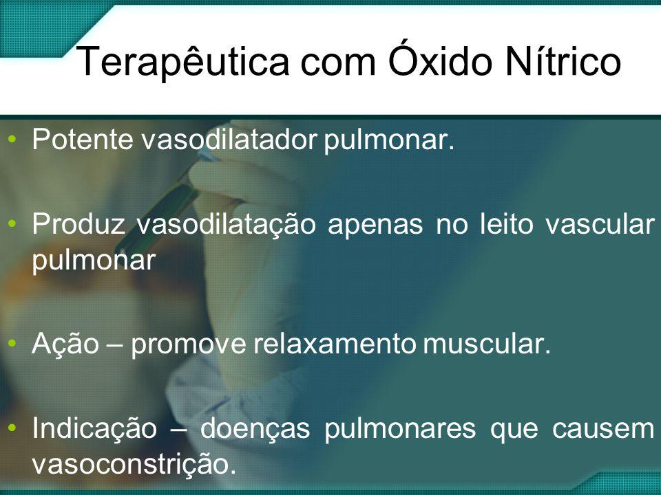 Terapêutica com Óxido Nítrico