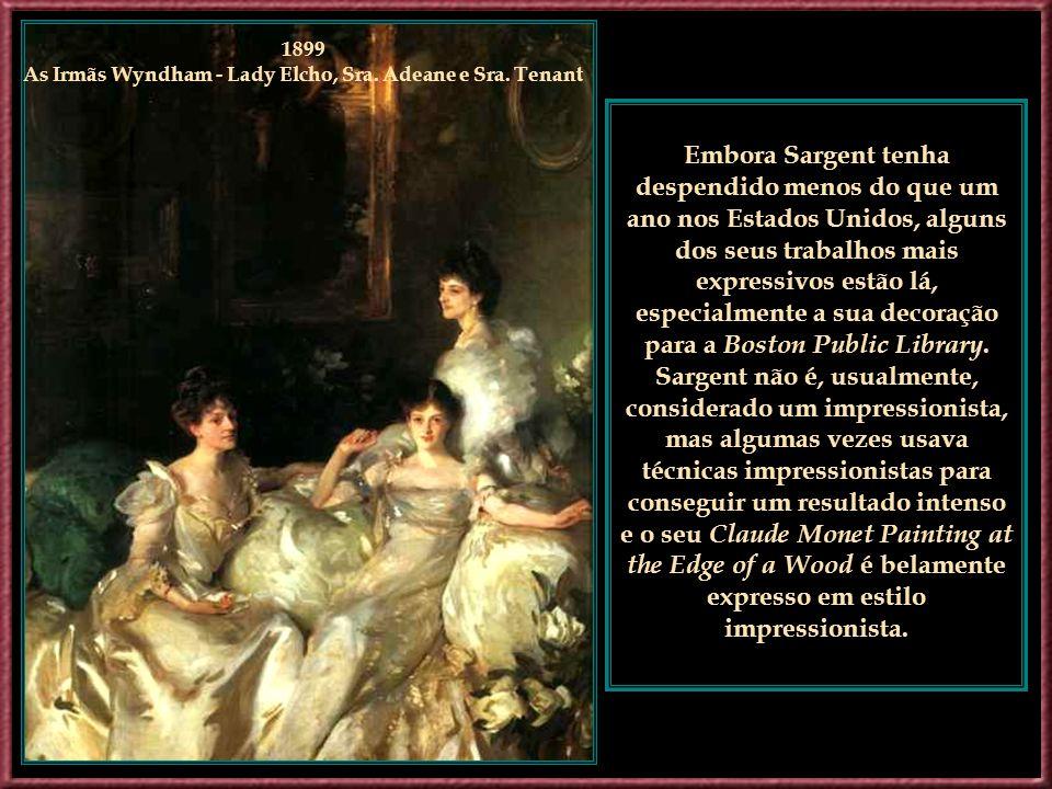 1899 As Irmãs Wyndham - Lady Elcho, Sra. Adeane e Sra. Tenant