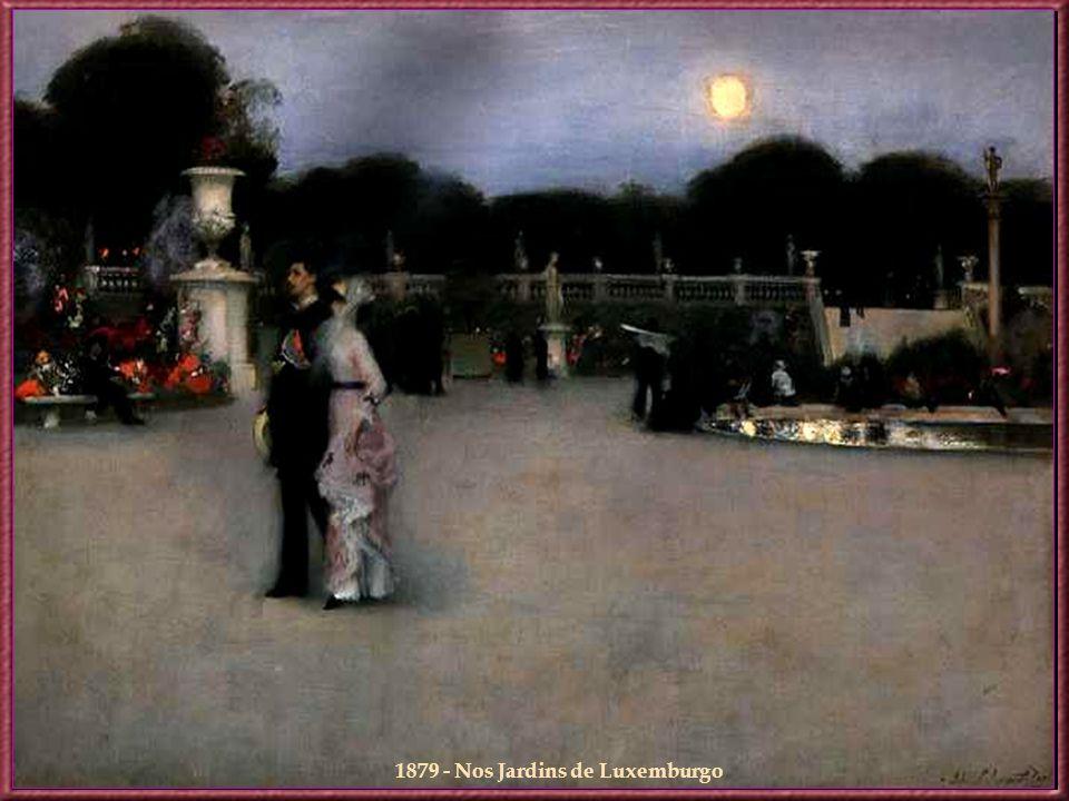 1879 - Nos Jardins de Luxemburgo