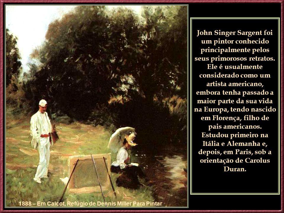 1888 – Em Calcot, Refúgio de Dennis Miller Para Pintar