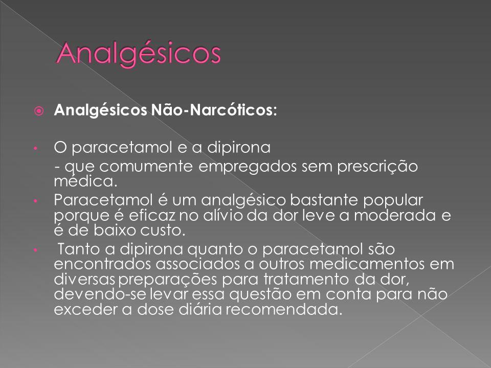 Analgésicos Analgésicos Não-Narcóticos: O paracetamol e a dipirona