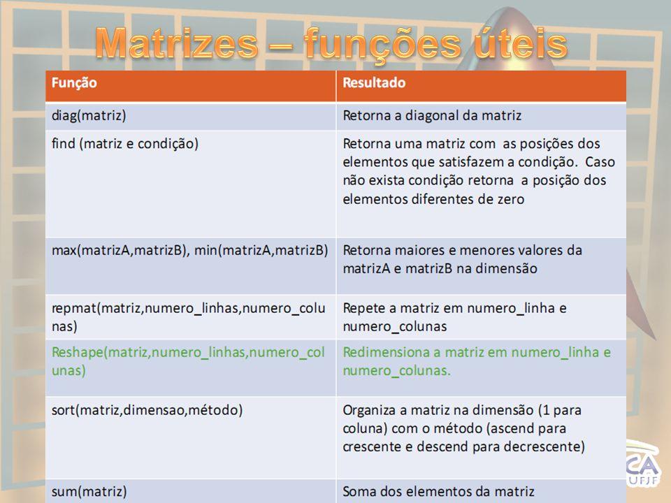 Matrizes – funções úteis