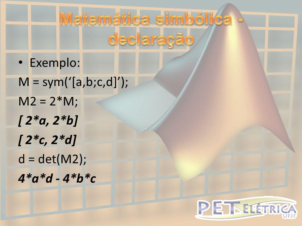 Matemática simbólica - declaração