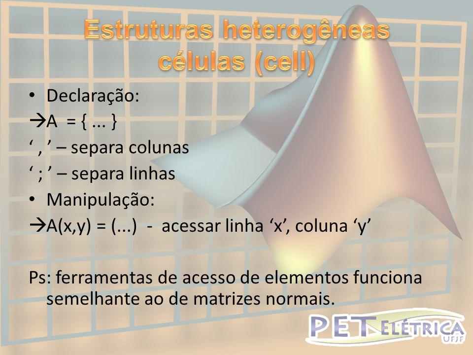Estruturas heterogêneas células (cell)