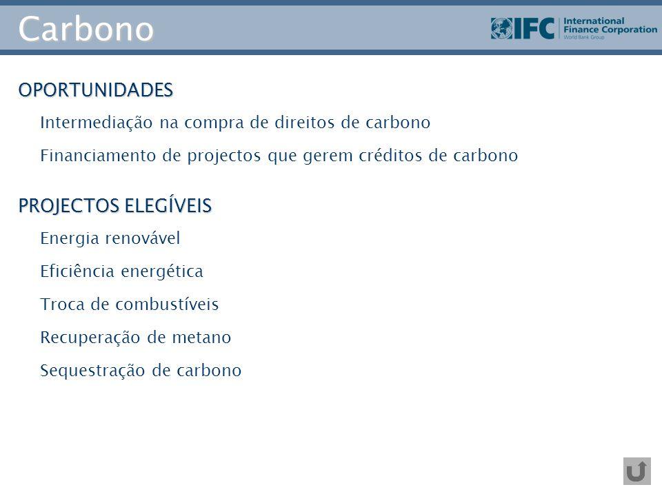 Carbono OPORTUNIDADES PROJECTOS ELEGÍVEIS