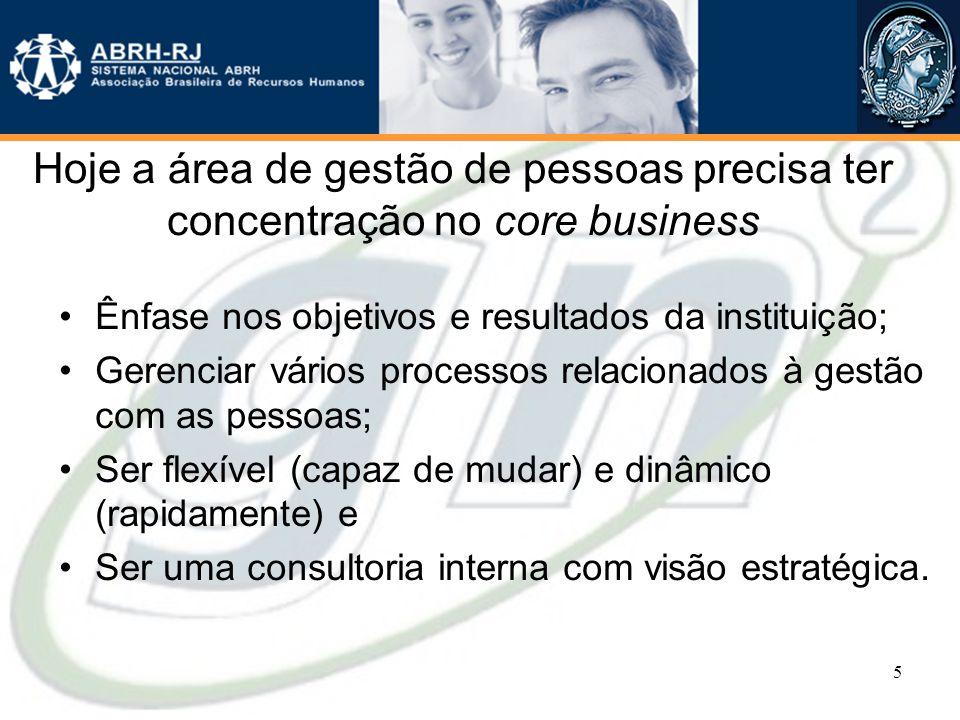 Hoje a área de gestão de pessoas precisa ter concentração no core business