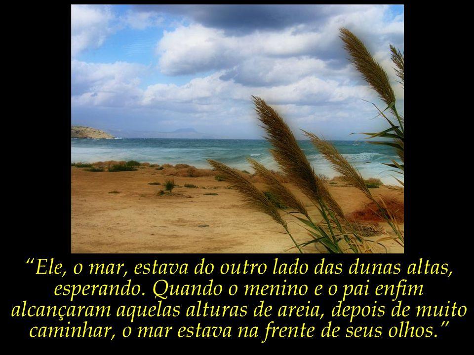 Ele, o mar, estava do outro lado das dunas altas, esperando