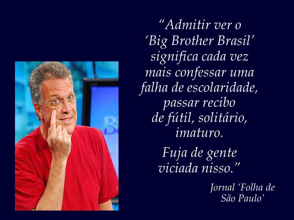 'Big Brother Brasil' significa cada vez mais confessar uma