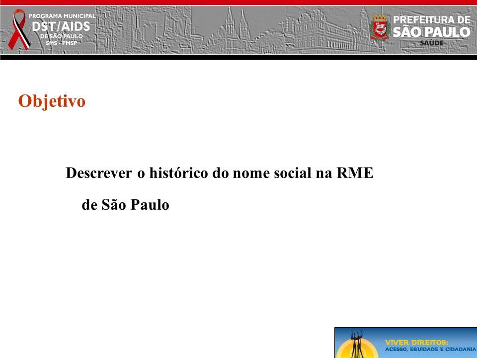 Descrever o histórico do nome social na RME