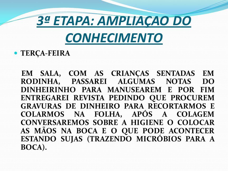 3ª ETAPA: AMPLIAÇAO DO CONHECIMENTO