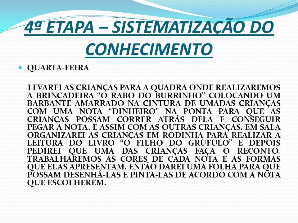 4ª ETAPA – SISTEMATIZAÇÃO DO CONHECIMENTO
