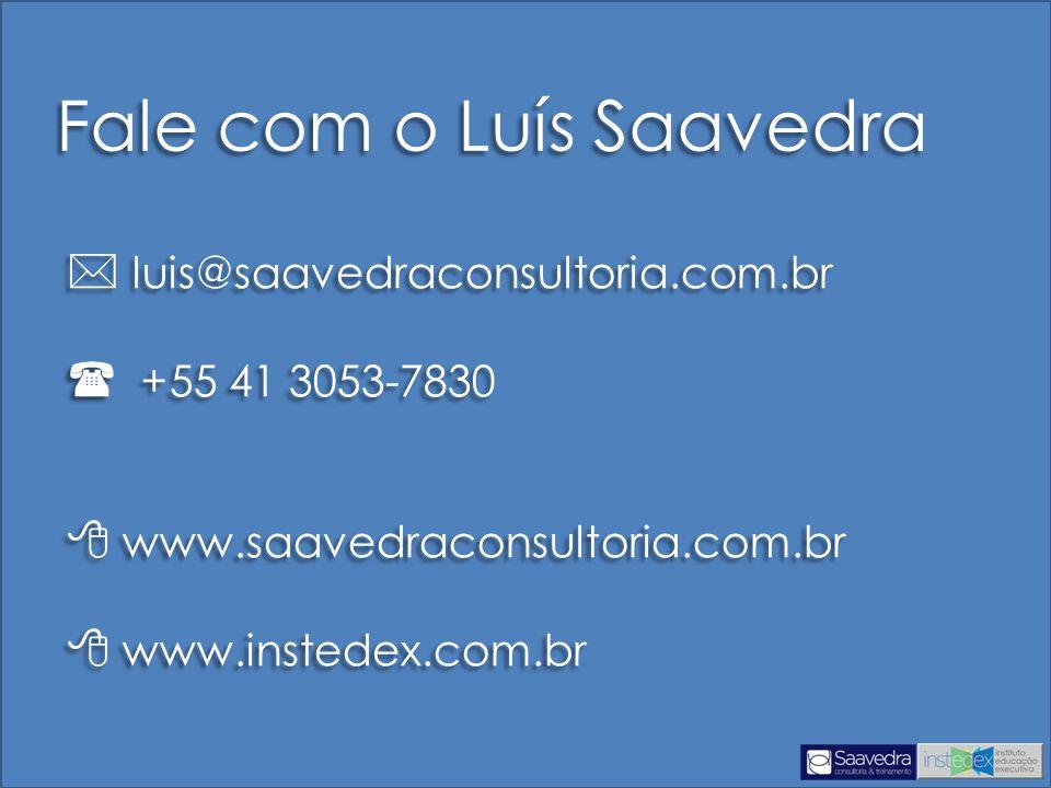 Fale com o Luís Saavedra
