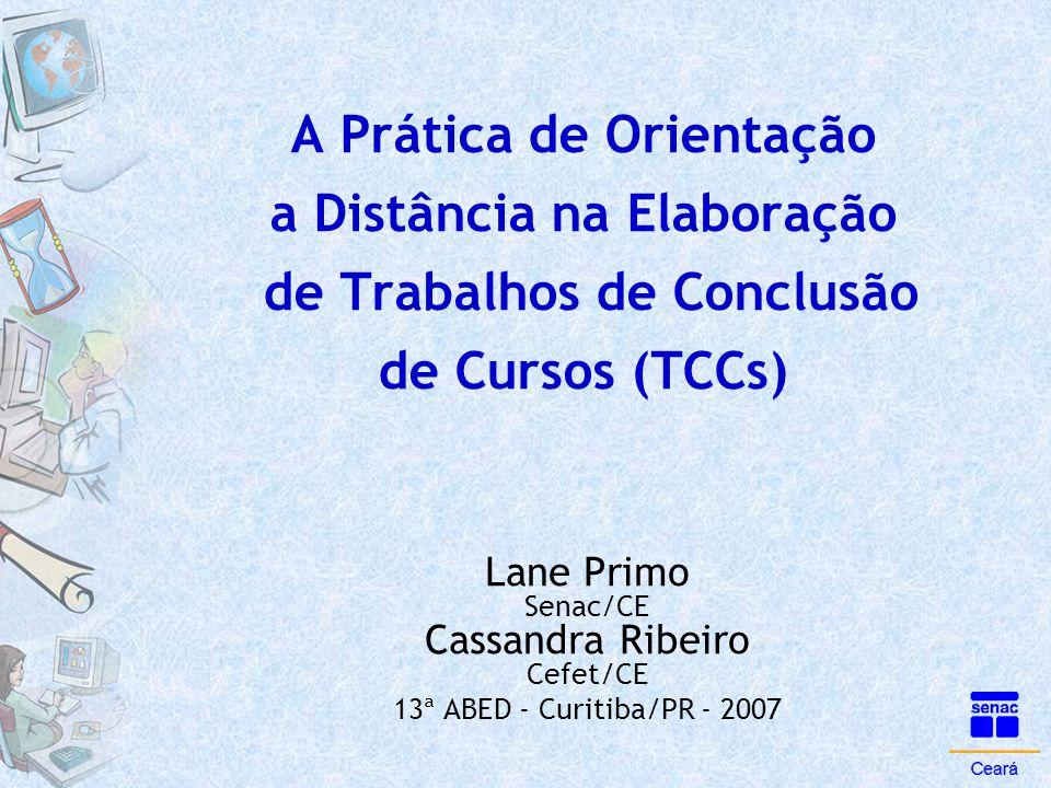 Lane Primo Senac/CE Cassandra Ribeiro Cefet/CE
