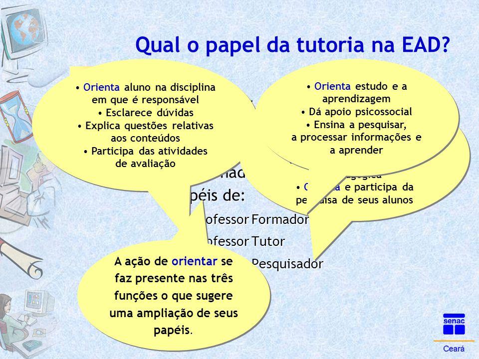 Qual o papel da tutoria na EAD