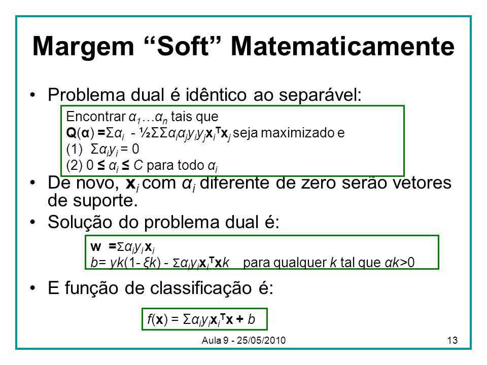 Margem Soft Matematicamente