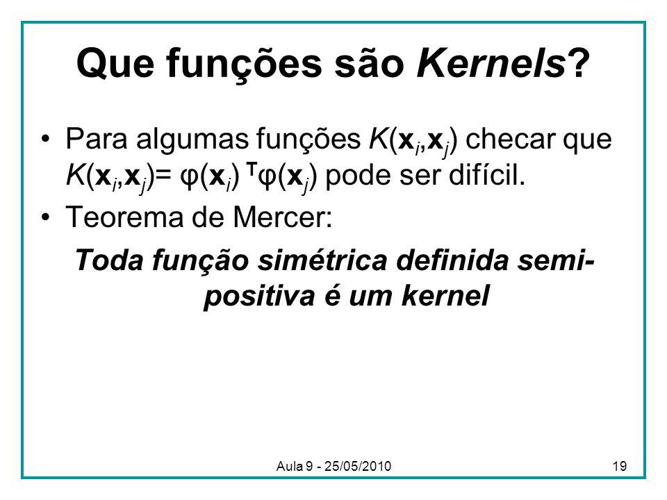 Que funções são Kernels