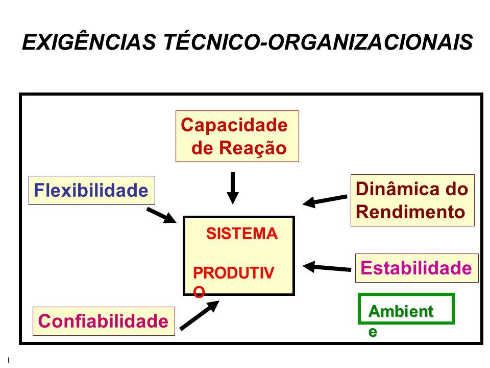 EXIGÊNCIAS TÉCNICO-ORGANIZACIONAIS