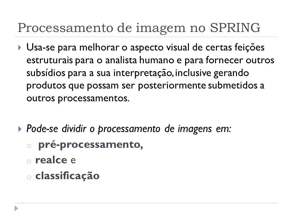 Processamento de imagem no SPRING