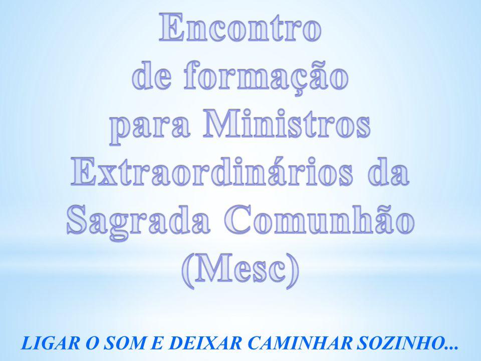 Encontro de formação. para Ministros Extraordinários da Sagrada Comunhão.