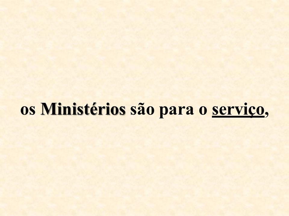 os Ministérios são para o serviço,