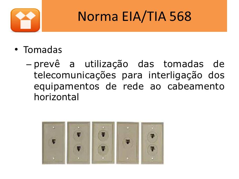 Norma EIA/TIA 568 Tomadas.