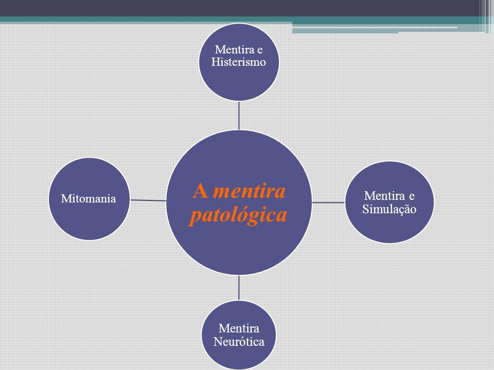 Mentira e Histerismo Mitomania A mentira patológica