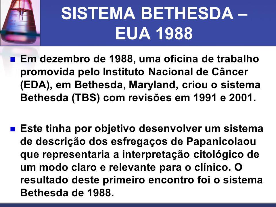 SISTEMA BETHESDA – EUA 1988