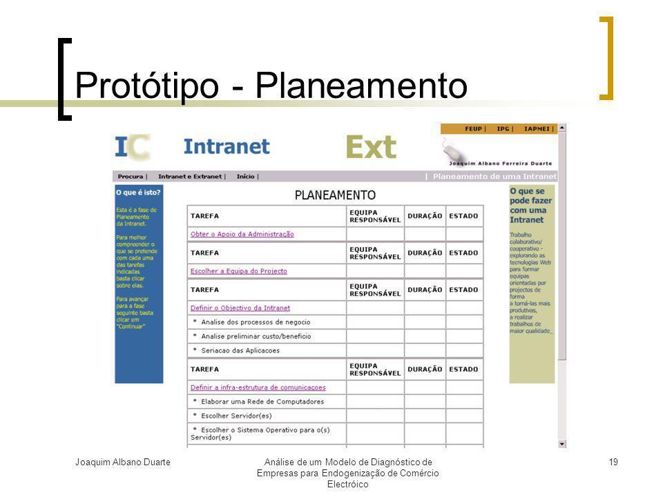 Protótipo - Planeamento
