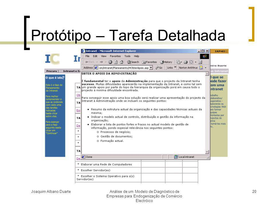 Protótipo – Tarefa Detalhada