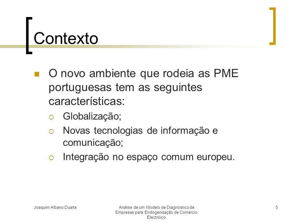 Contexto O novo ambiente que rodeia as PME portuguesas tem as seguintes características: Globalização;