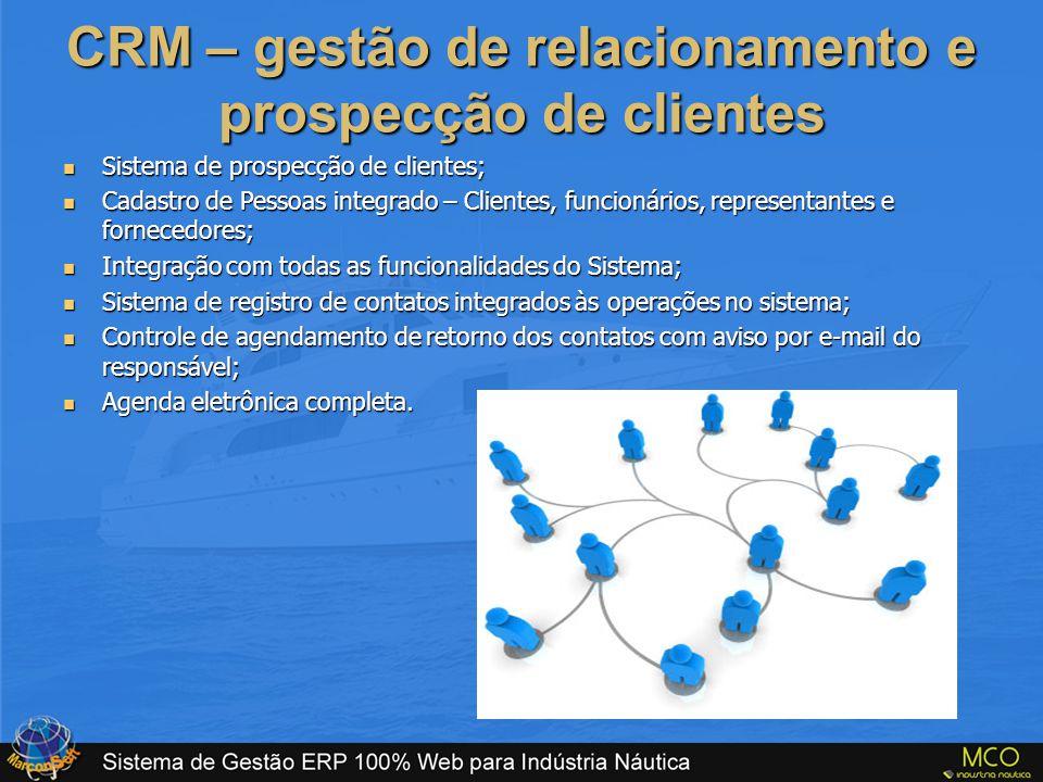 CRM – gestão de relacionamento e prospecção de clientes