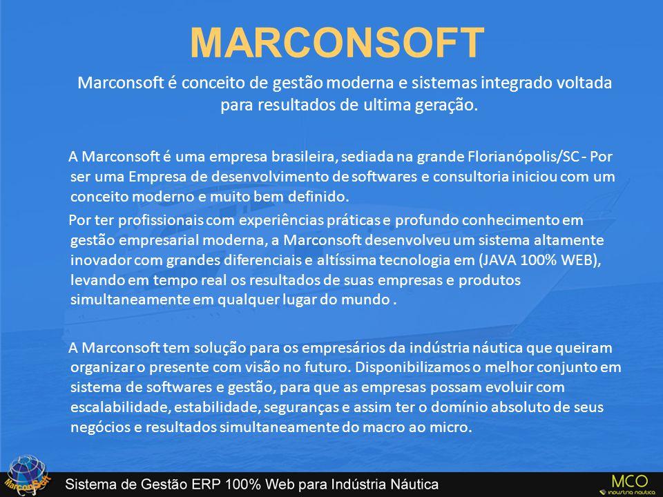 MARCONSOFT Marconsoft é conceito de gestão moderna e sistemas integrado voltada para resultados de ultima geração.