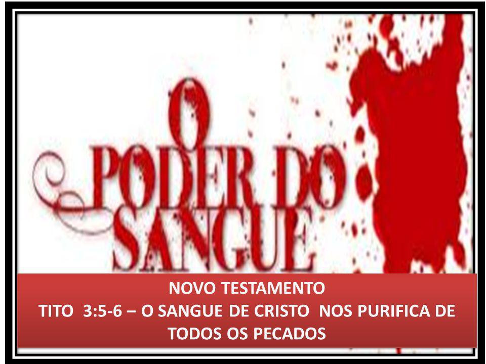TITO 3:5-6 – O SANGUE DE CRISTO NOS PURIFICA DE TODOS OS PECADOS