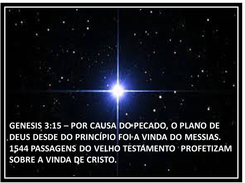 GENESIS 3:15 – POR CAUSA DO PECADO, O PLANO DE DEUS DESDE DO PRINCÍPIO FOI A VINDA DO MESSIAS.