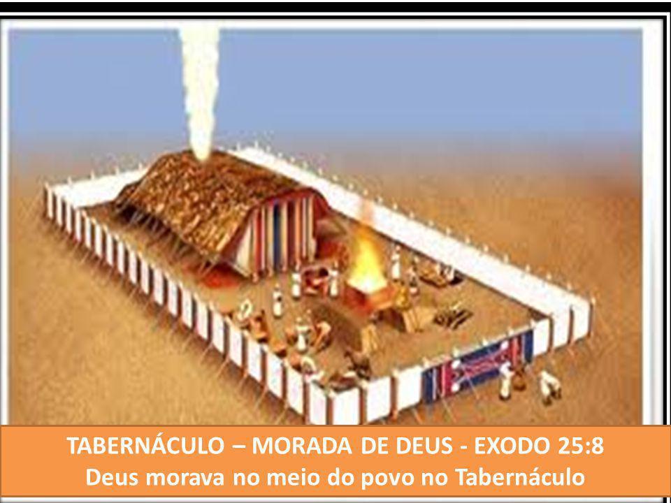 TABERNÁCULO – MORADA DE DEUS - EXODO 25:8