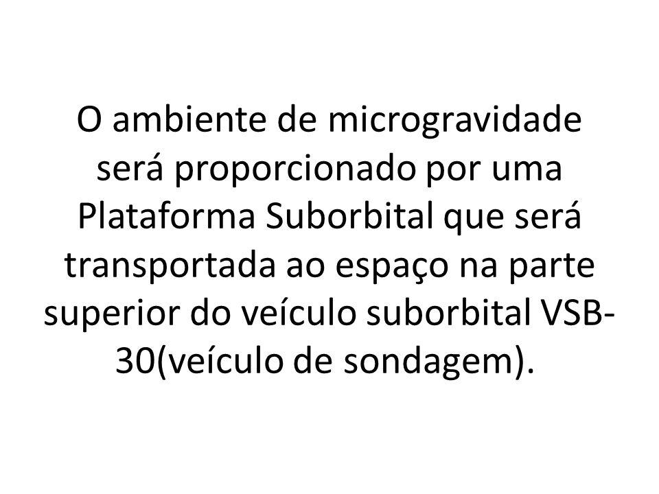 O ambiente de microgravidade será proporcionado por uma Plataforma Suborbital que será transportada ao espaço na parte superior do veículo suborbital VSB-30(veículo de sondagem).