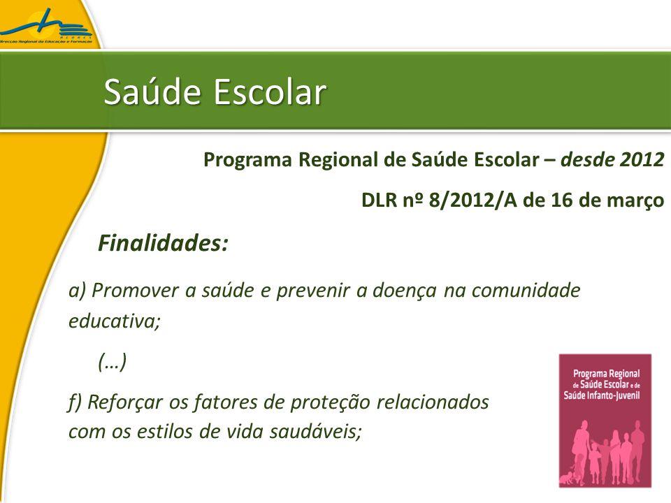 Saúde Escolar Finalidades: