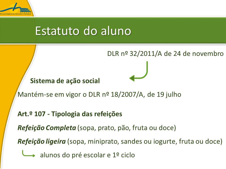 Estatuto do aluno DLR nº 32/2011/A de 24 de novembro