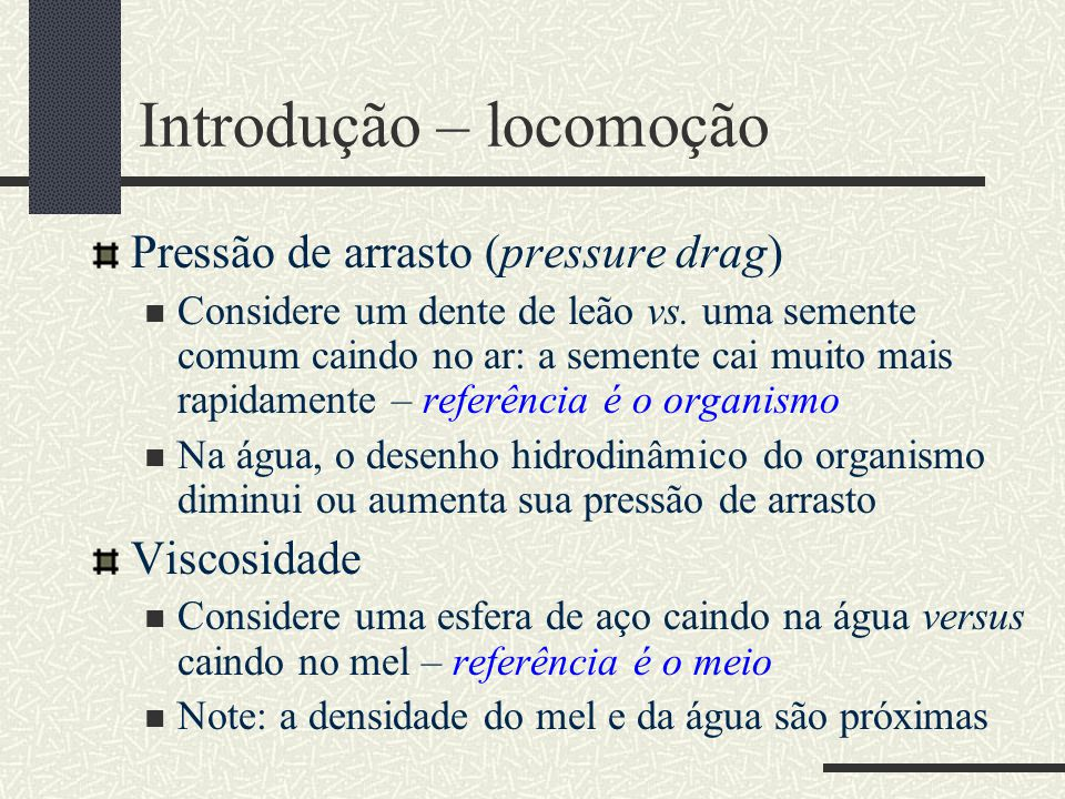 Introdução – locomoção