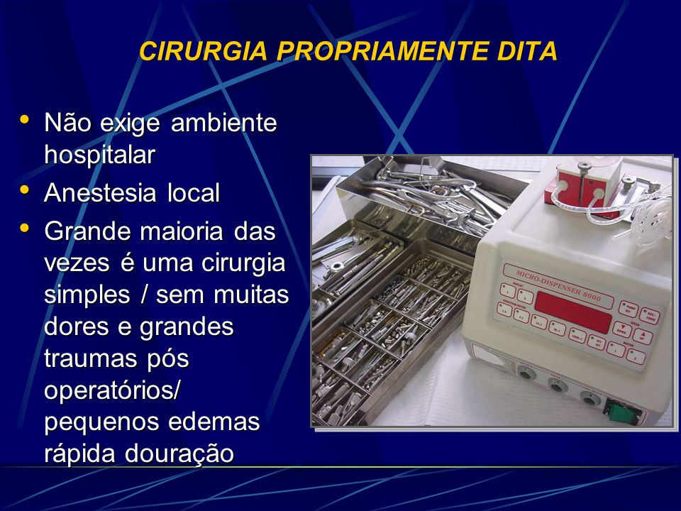 CIRURGIA PROPRIAMENTE DITA