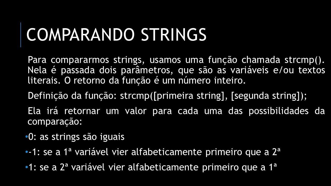 comparando strings