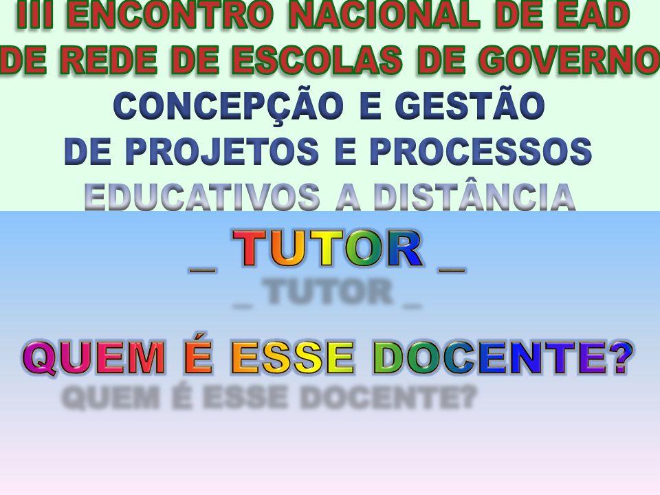DE PROJETOS E PROCESSOS EDUCATIVOS A DISTÂNCIA