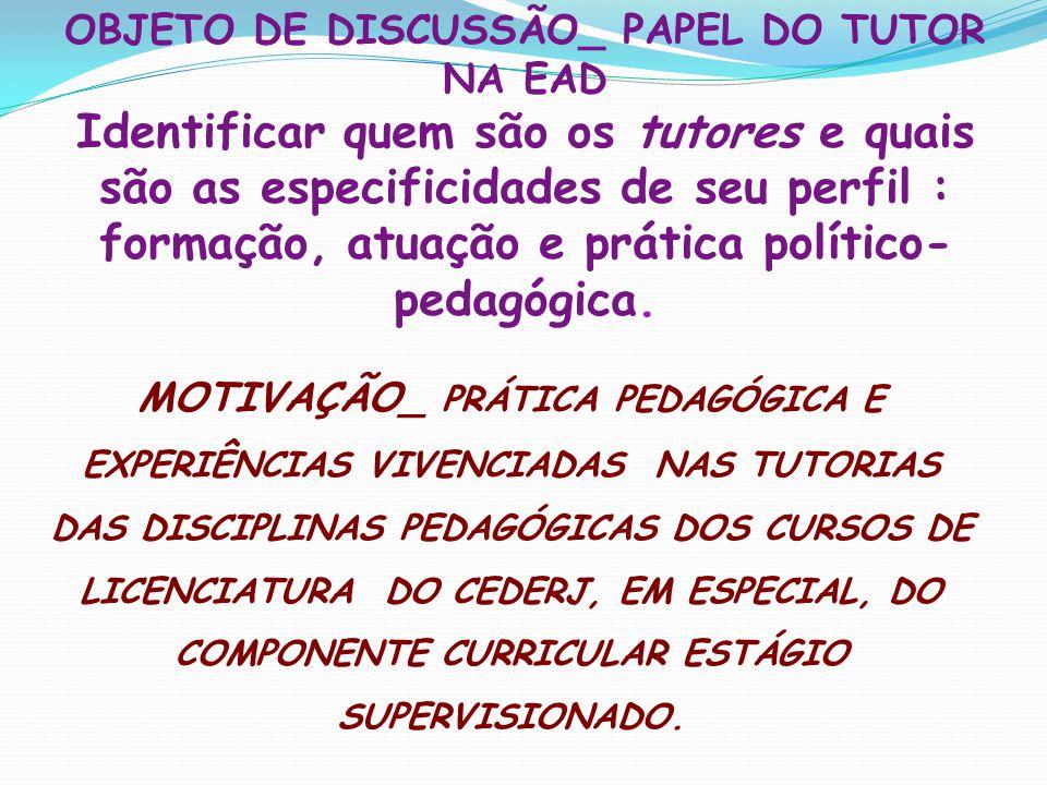 OBJETO DE DISCUSSÃO_ PAPEL DO TUTOR NA EAD